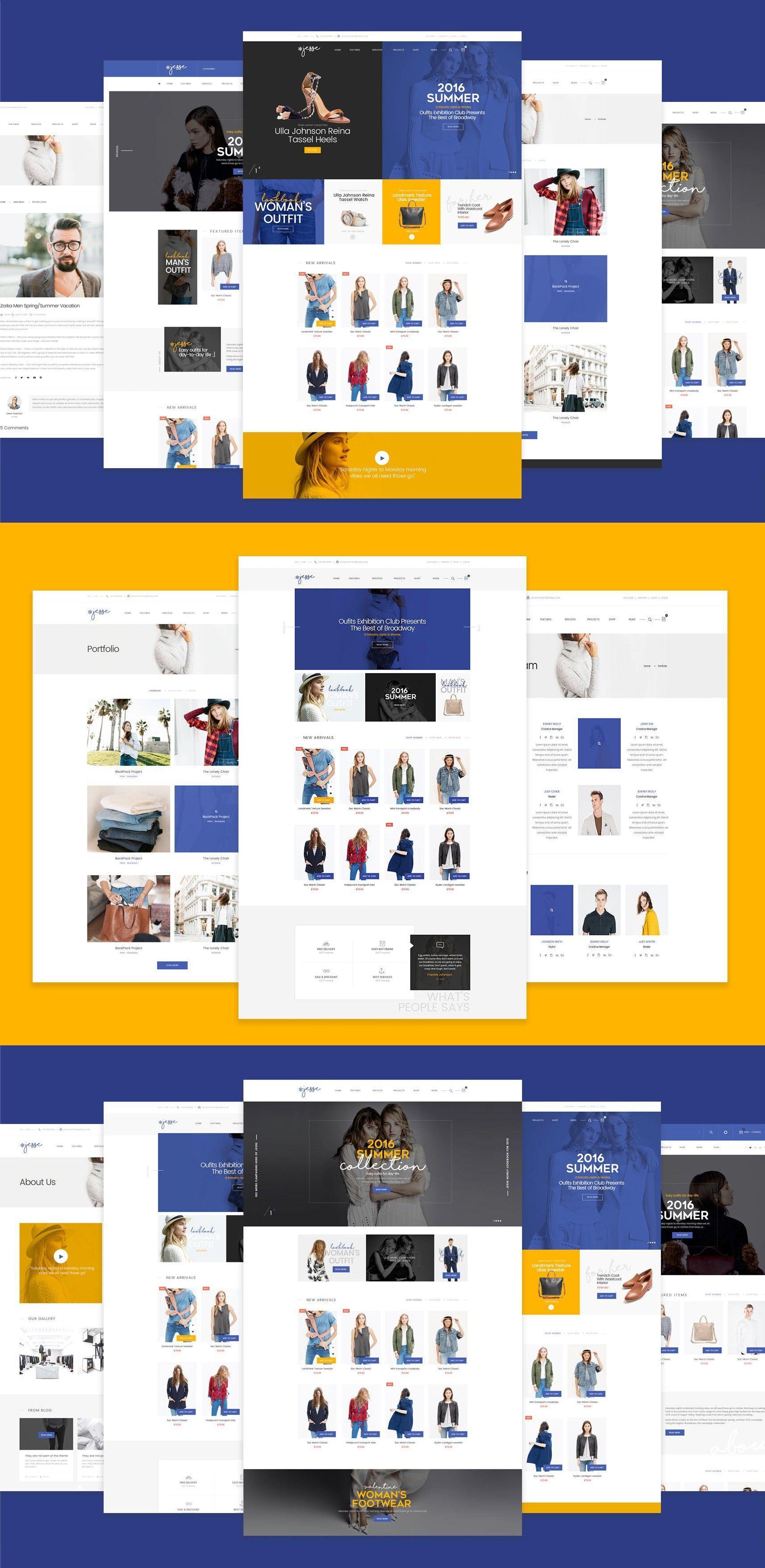 E Commerce Websites Templates