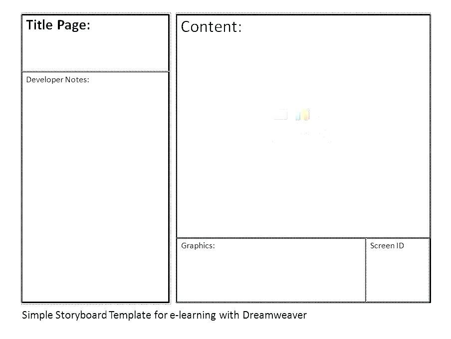 E Learning Storyboard Template