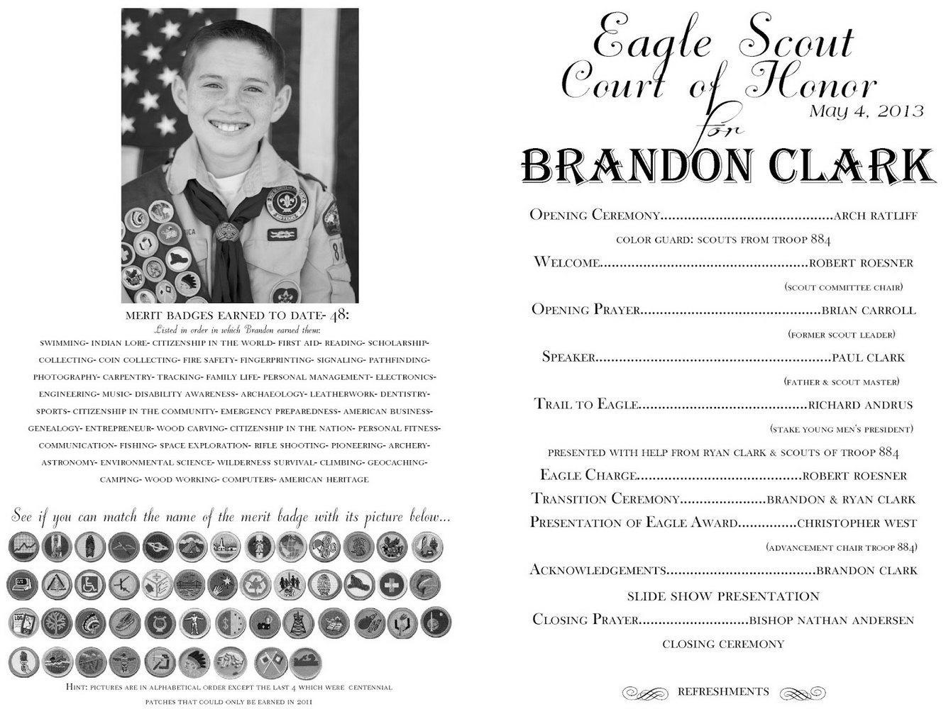 Eagle Ceremony Program Template