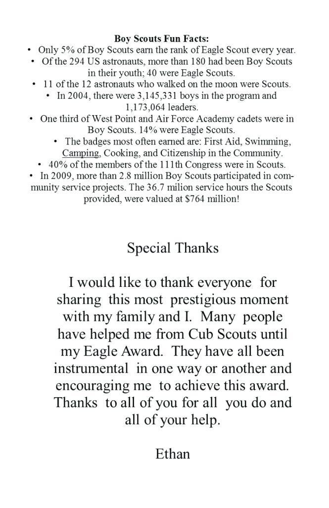 Eagle Scout Ceremony Invitation Wording