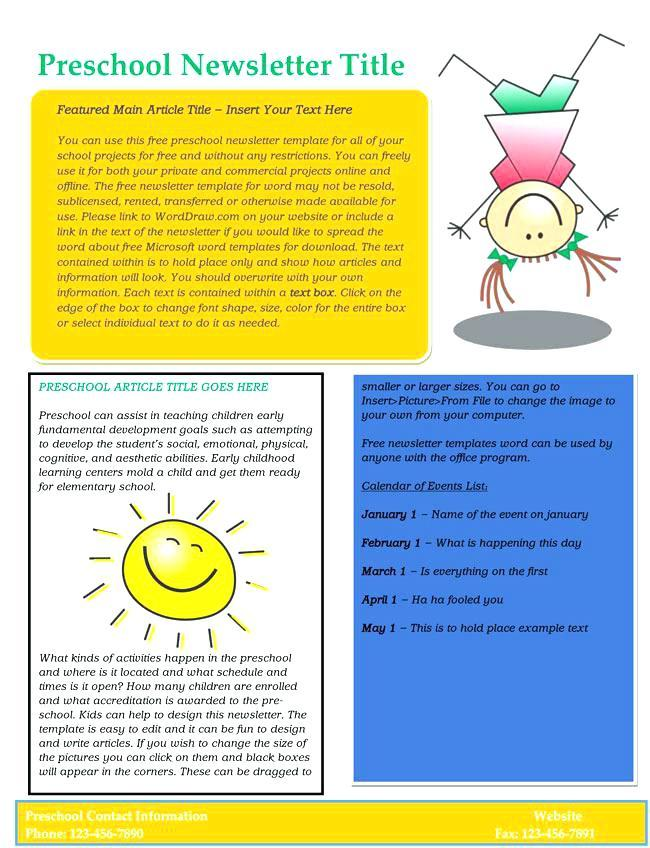 Early Childhood Newsletter Template