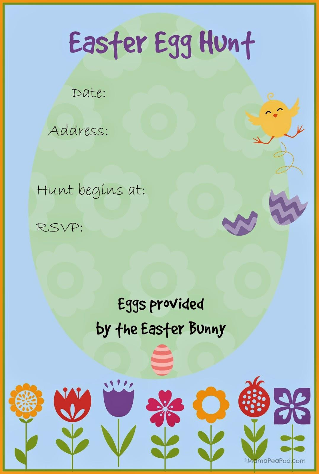 Easter Egg Hunt Invitation Templates