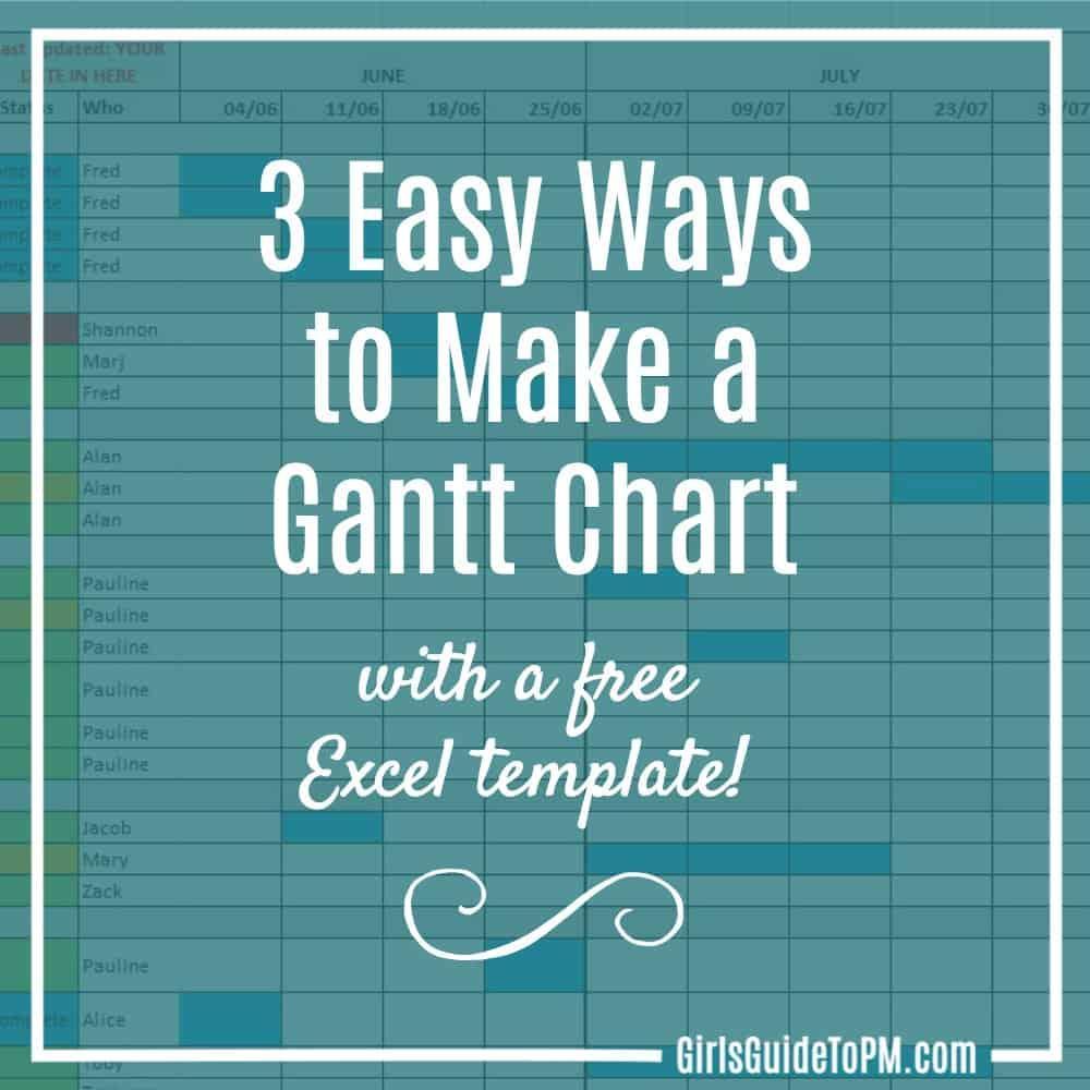 Easy Gantt Chart Template Excel