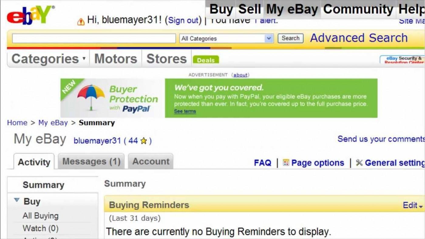 Ebay Invoice Example