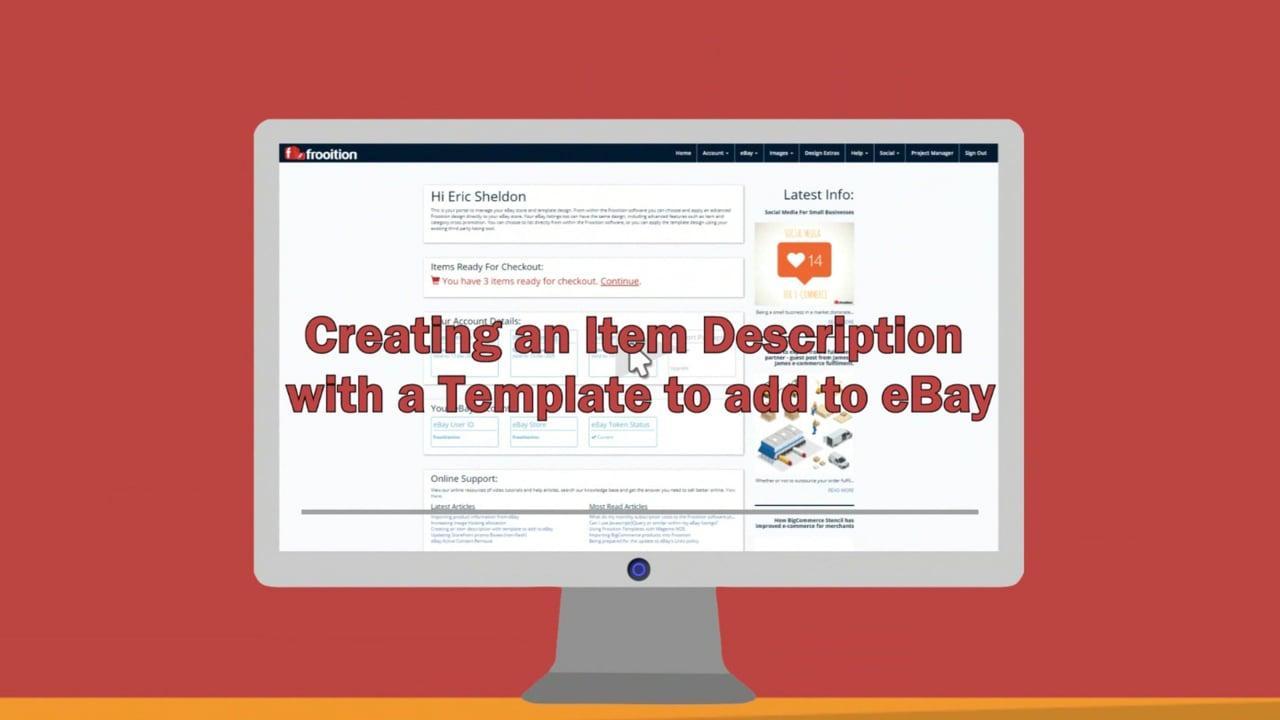 Ebay Item Description Template