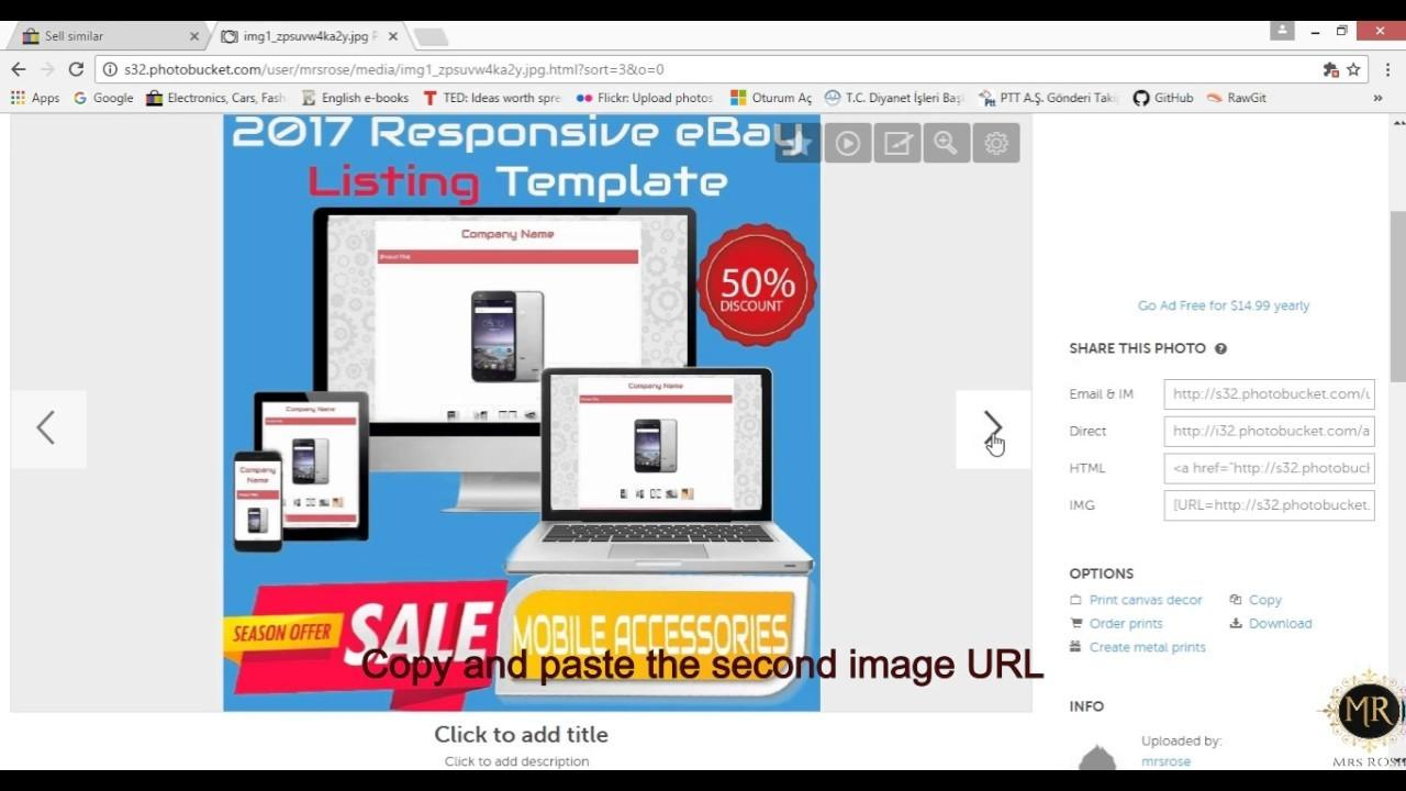 Ebay Responsive Template Tutorial