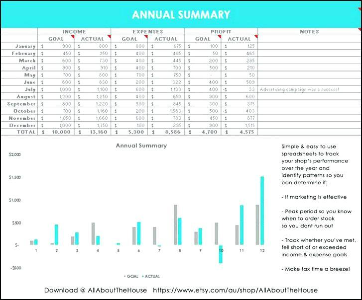Ebay Sales Report Excel Template