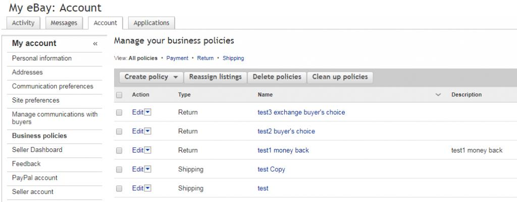 Ebay Seller Policy Template