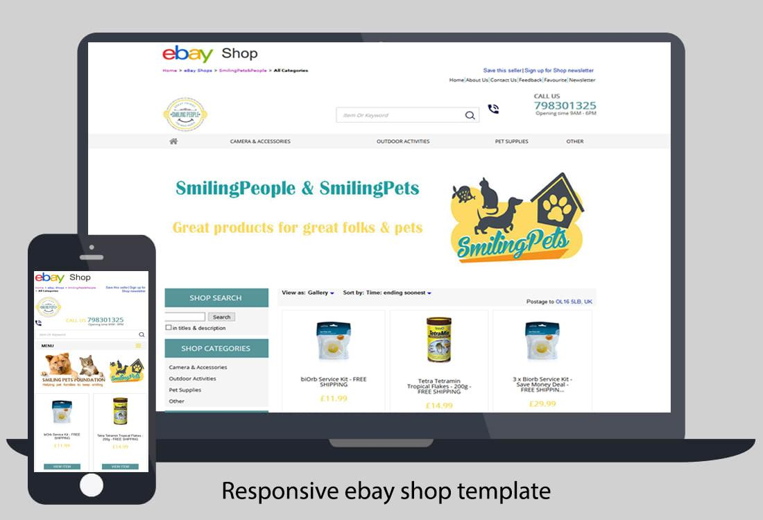 Ebay Shop Template Responsive