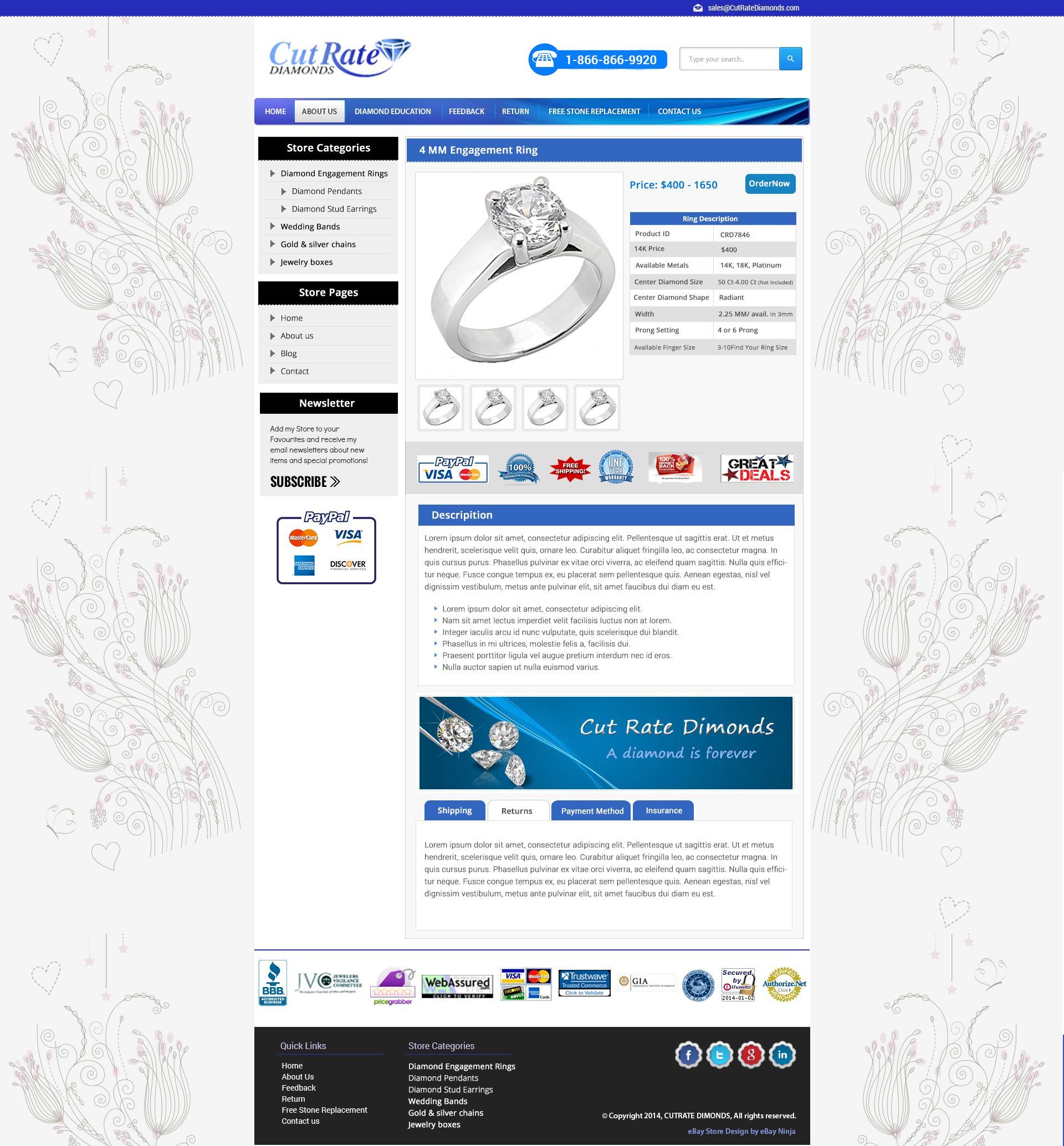 Ebay Storefront Template