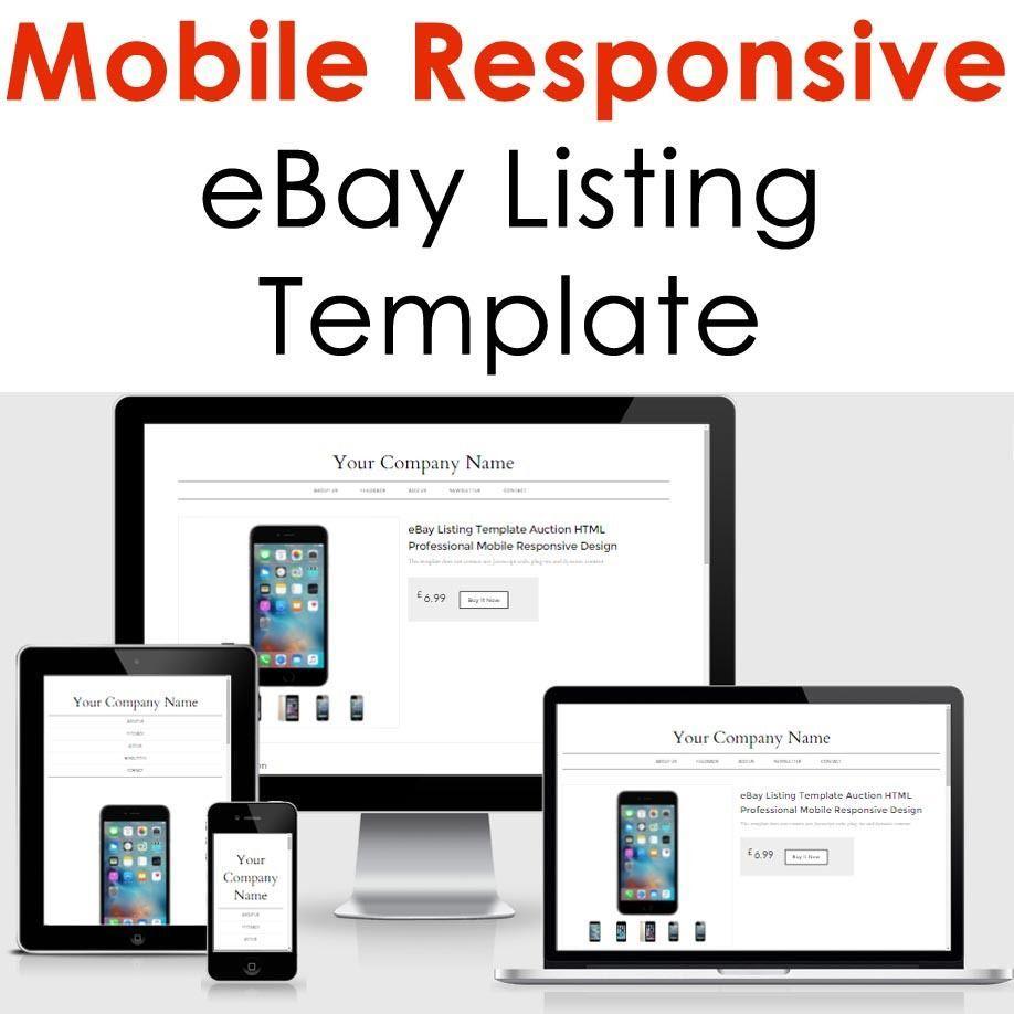 Ebay Template Listing Design