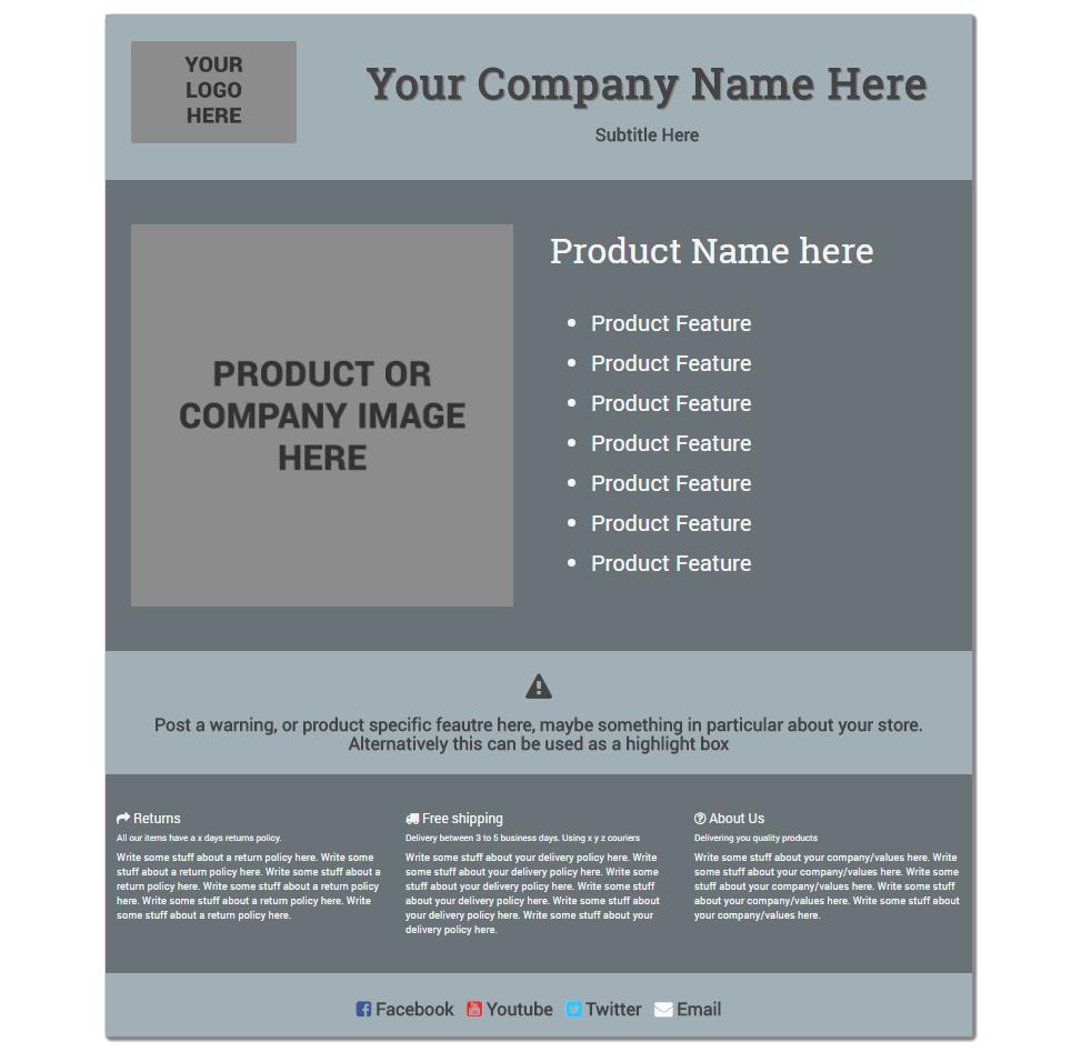 Ebay Template Listing Free
