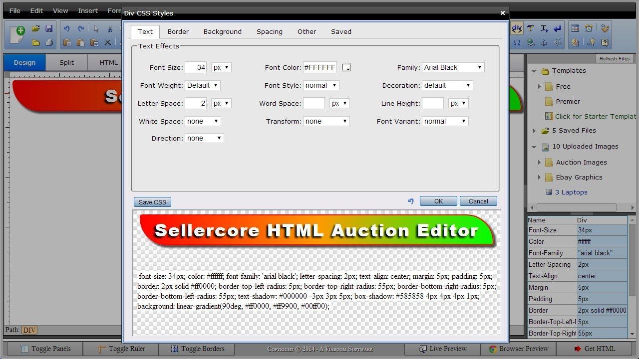 Ebay Template Software Free