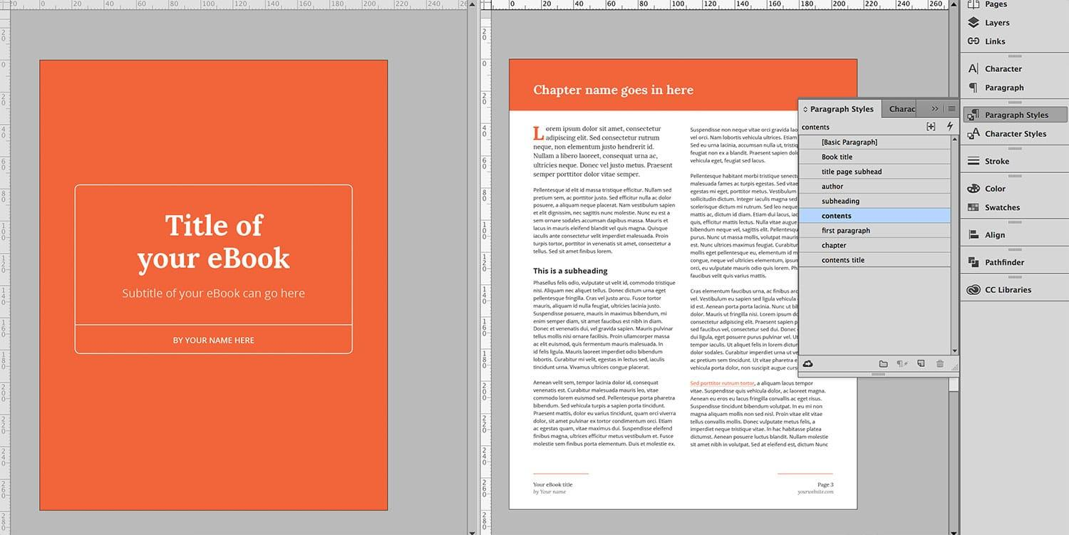 Ebook Cover Indesign Template