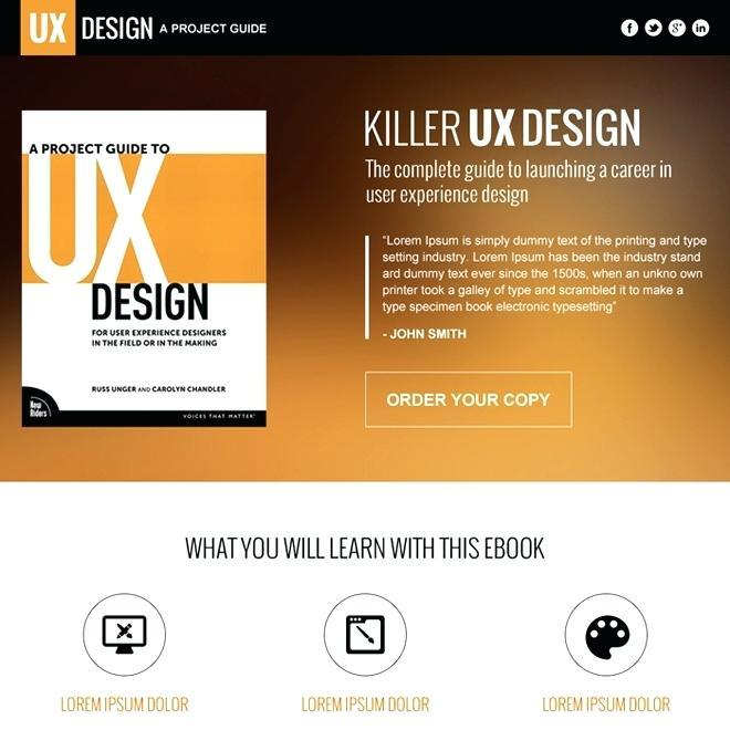 Ebook Squeeze Page Templates