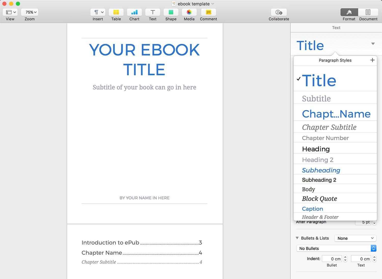 Ebook Template Microsoft Word Free