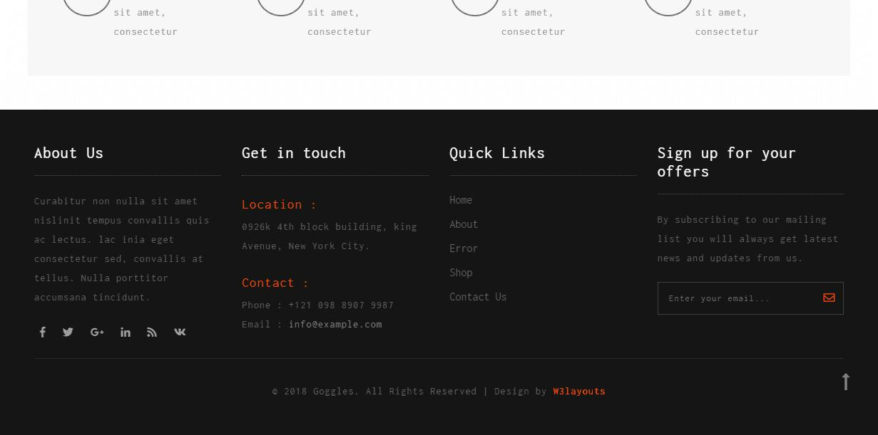 Ecommerce Css Template Bootstrap