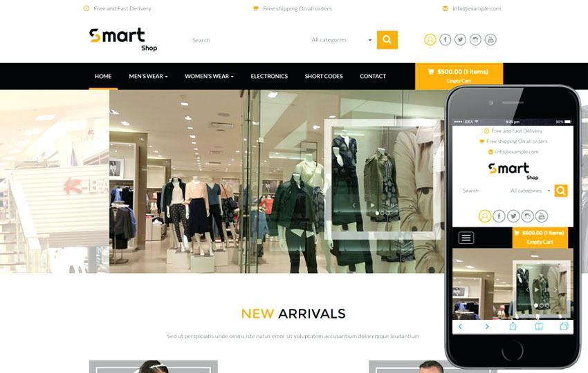 Ecommerce Responsive Websites Templates Free Download