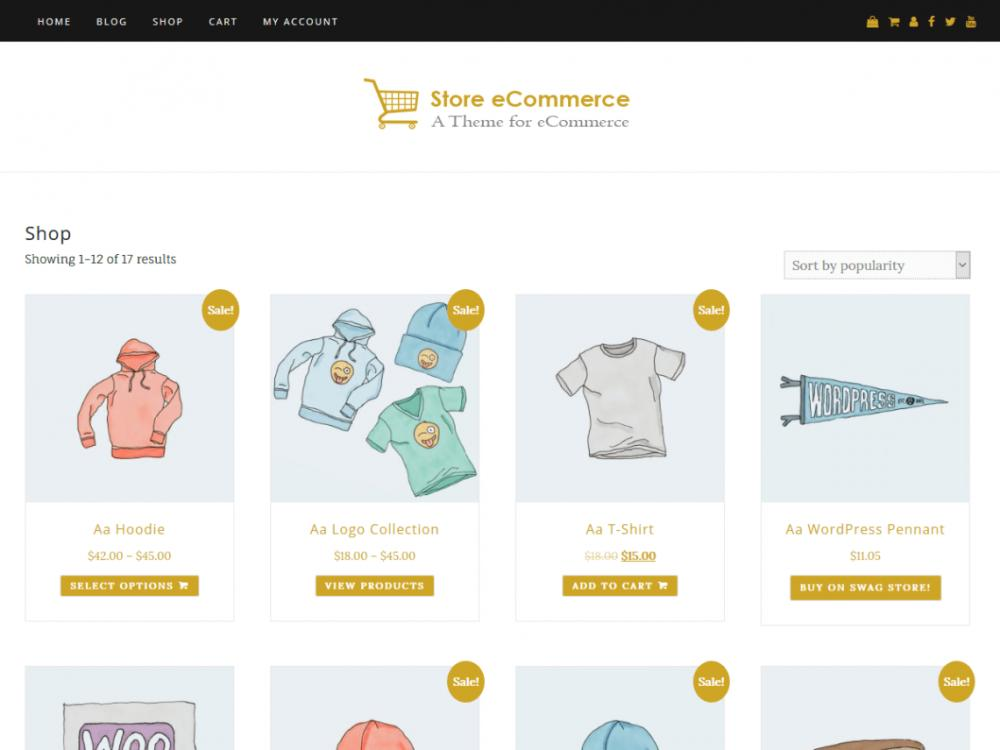 Ecommerce Templates WordPress Free Download
