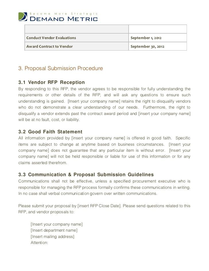 Ecommerce Website Rfp Template