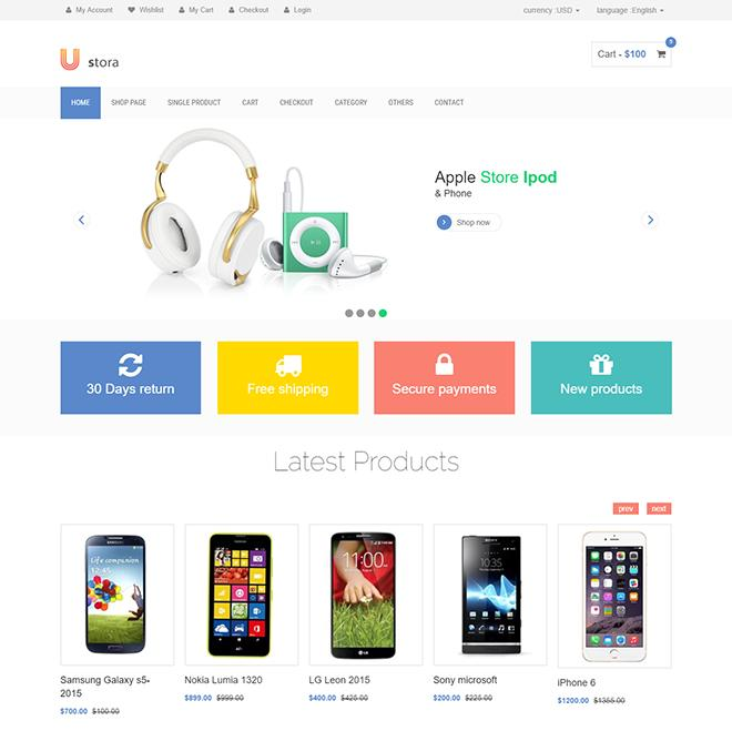 Ecommerce Website Templates Free Download Html With Css