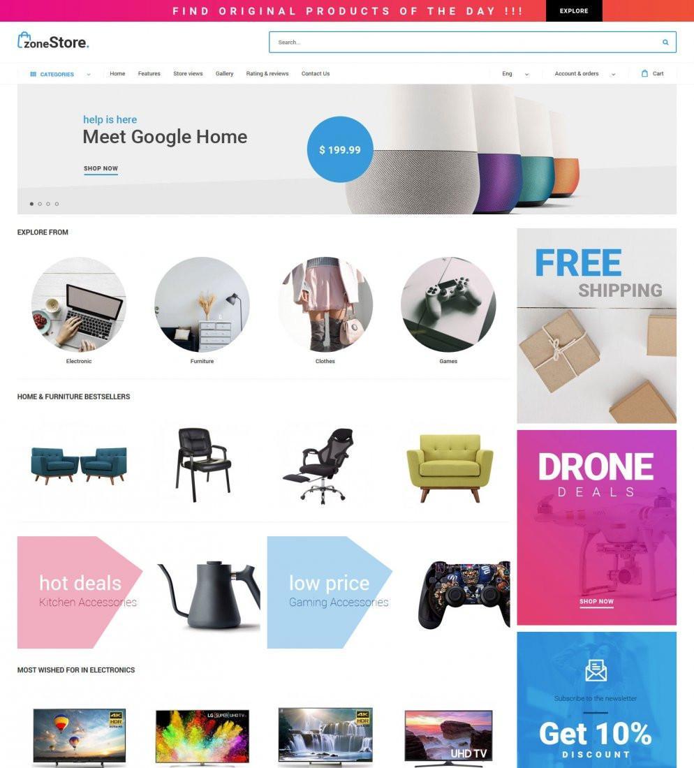 Ecommerce Website Templates Monster
