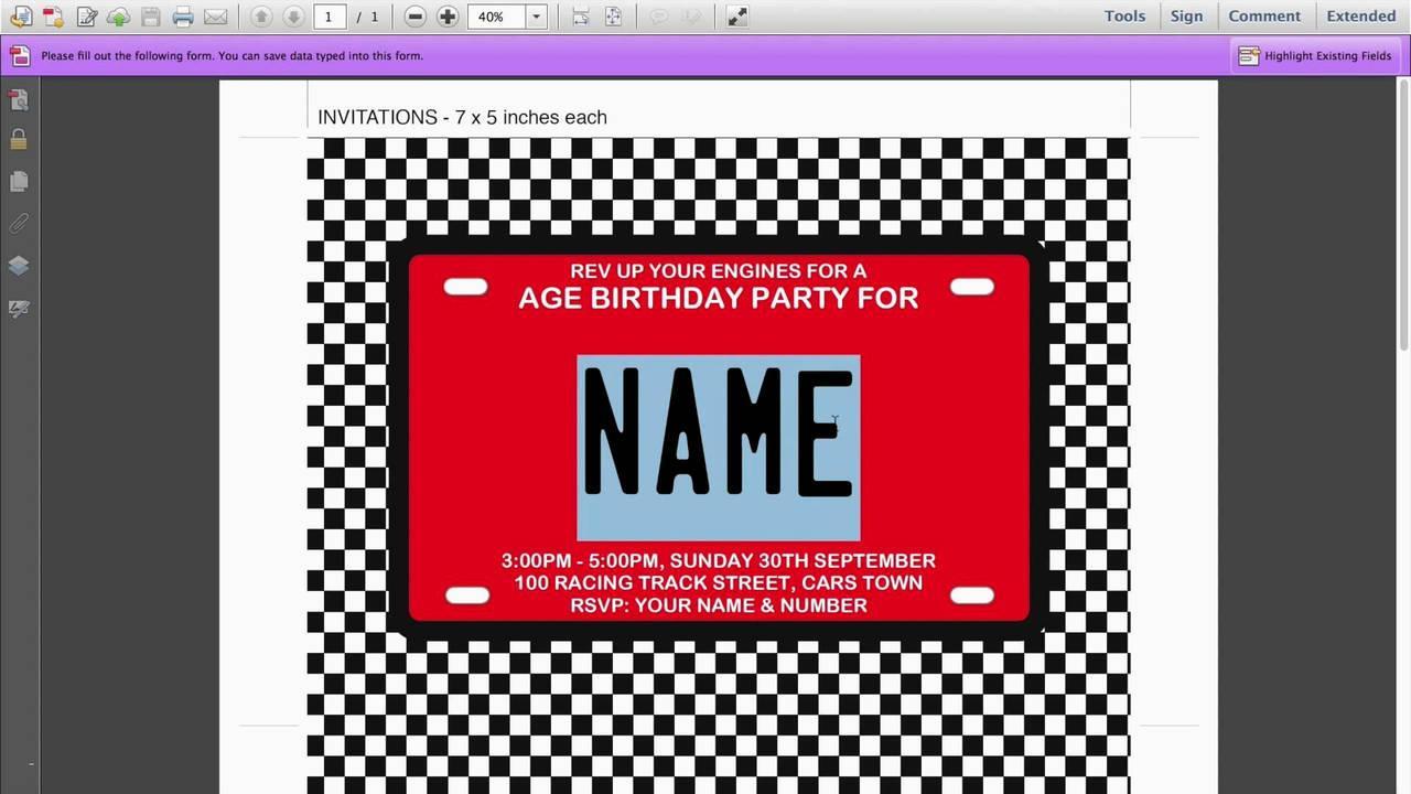 Editable 16th Birthday Invitations Templates Free