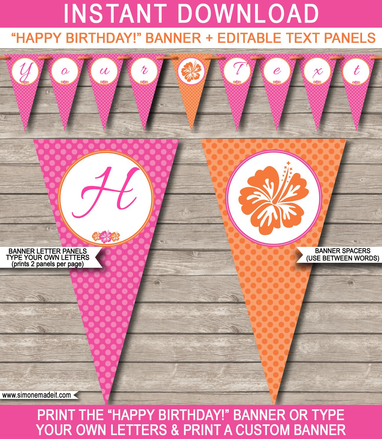 Editable Birthday Banner Template Free