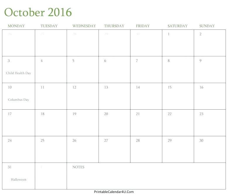 Editable Calendar Template Word