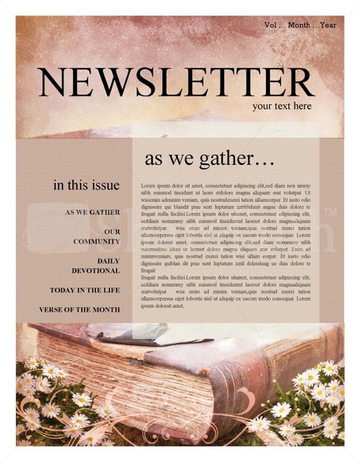 Editable Church Newsletter Templates