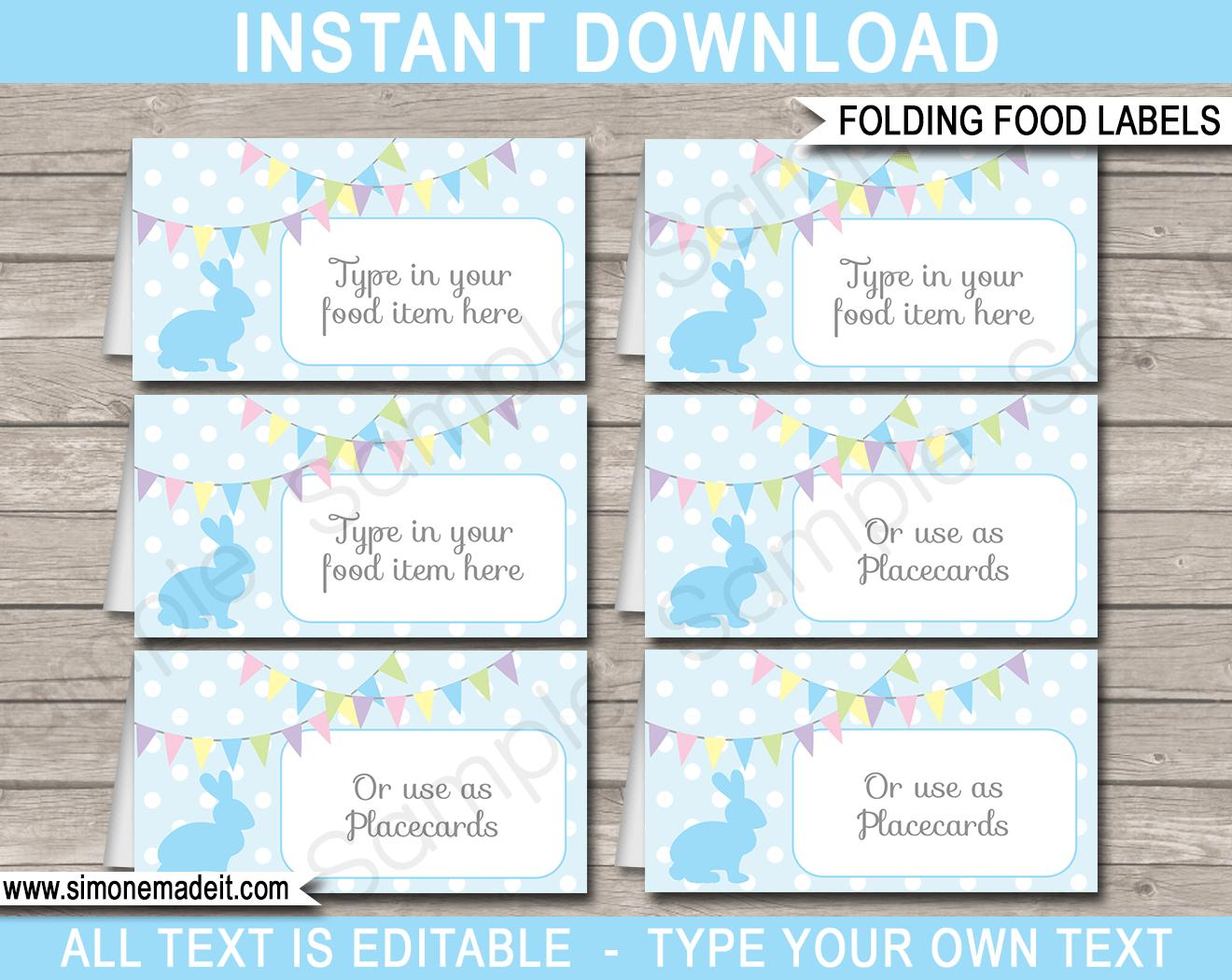 Editable Easter Labels Templates