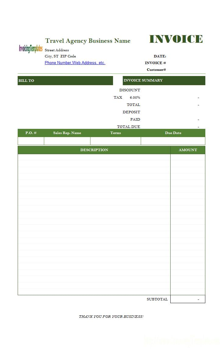 Editable Invoice Format In Word
