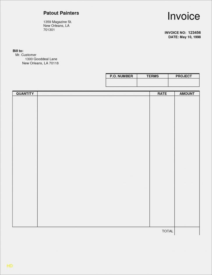 Editable Invoice Template Free