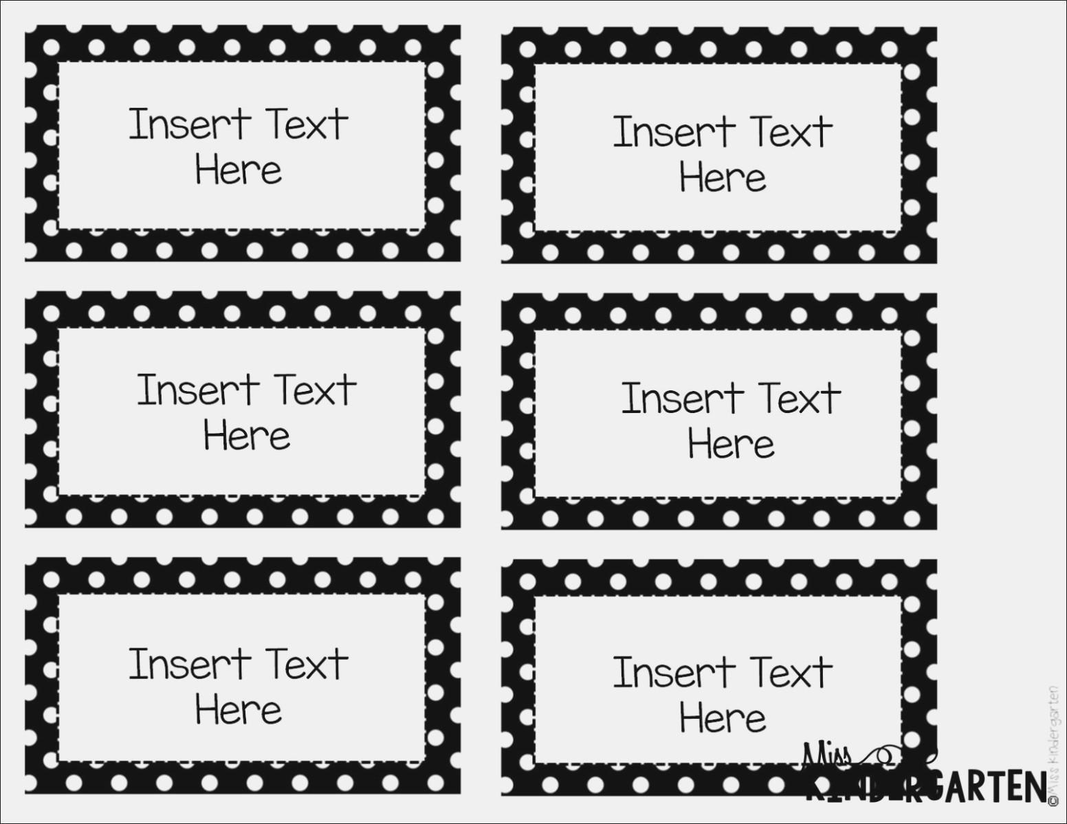 Editable Label Templates