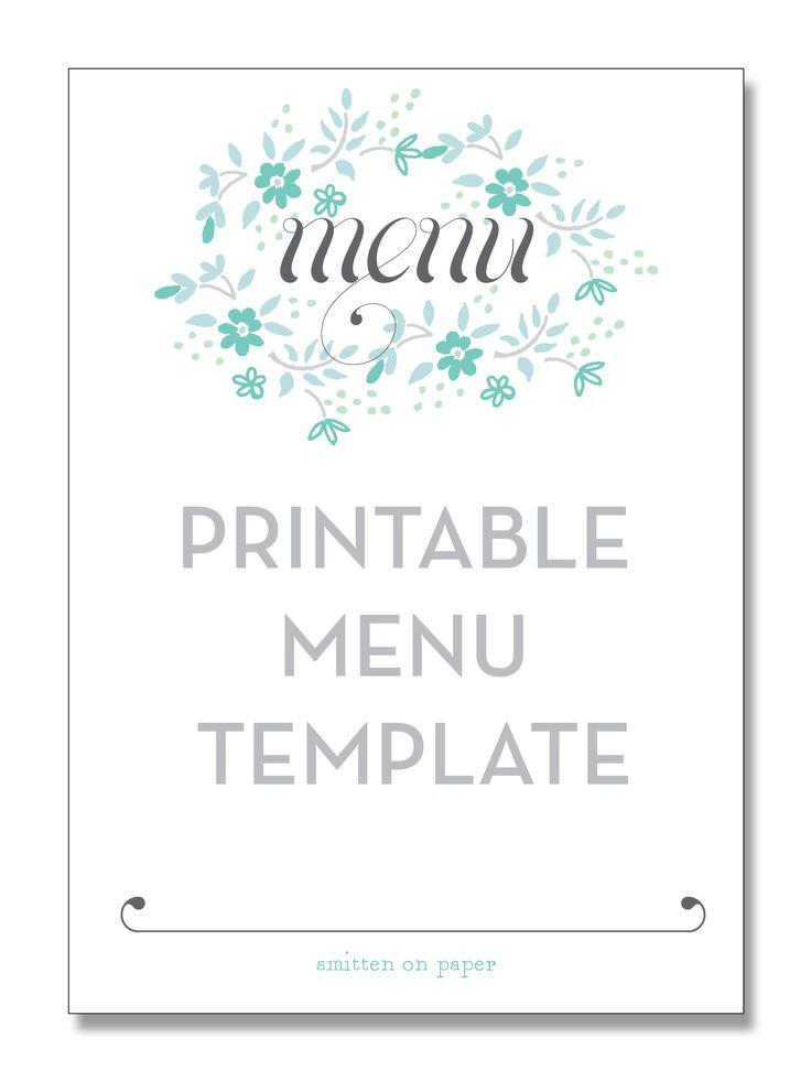 Editable Menu Templates Free Download