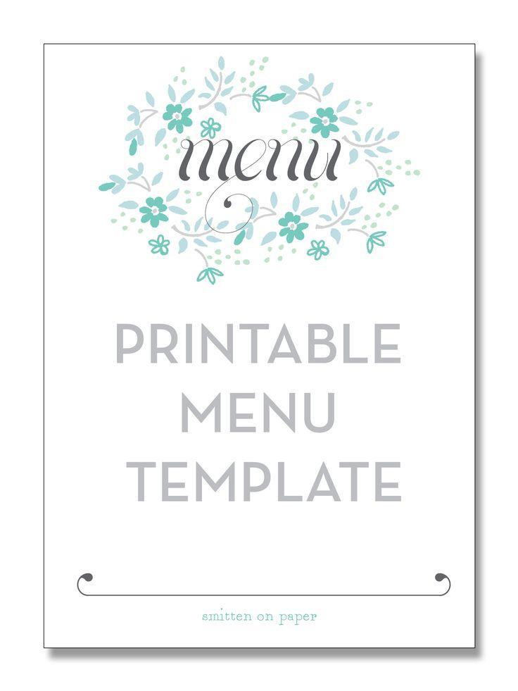 Editable Menu Templates Free Download