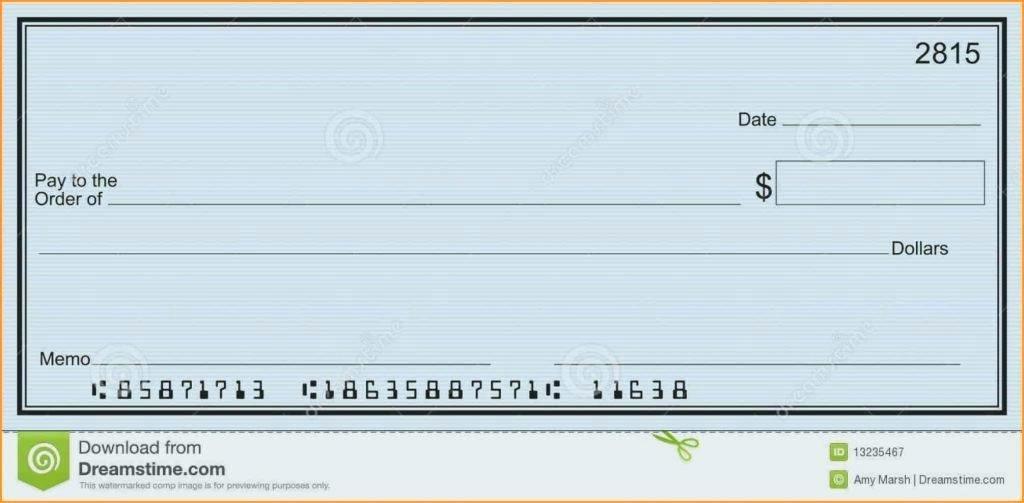 Editable Payroll Check Template