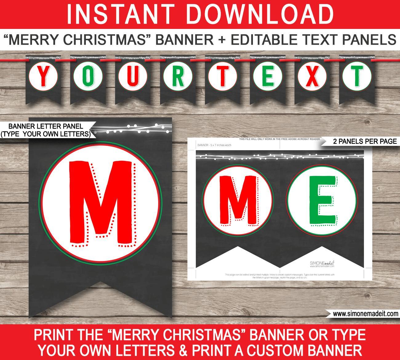 Editable Pennant Banner Template