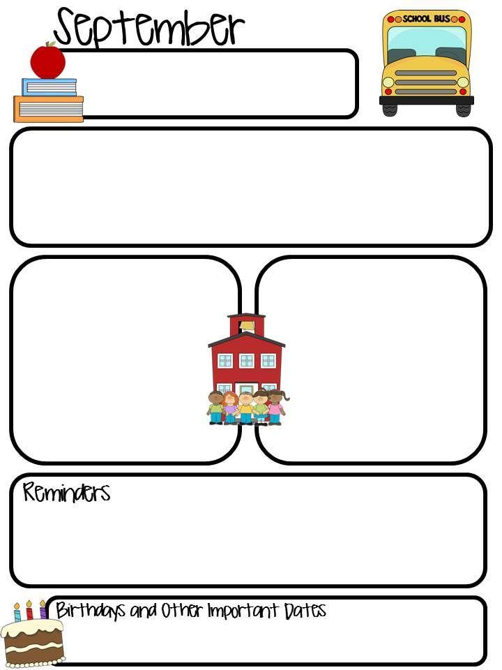 Editable Preschool Newsletter Templates