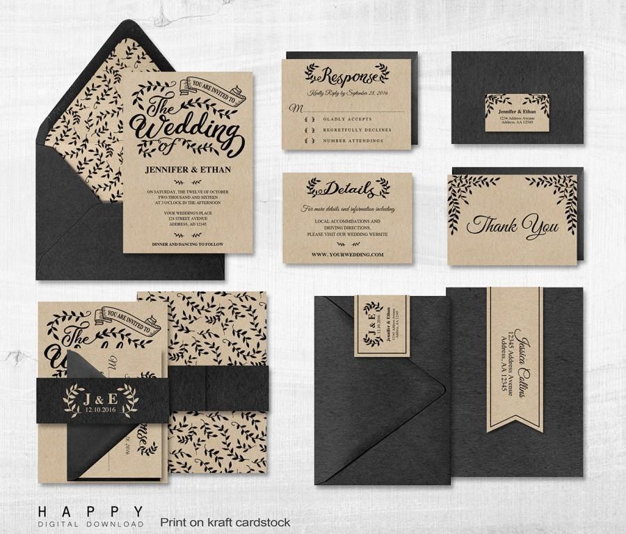 Editable Printable Invitation Templates