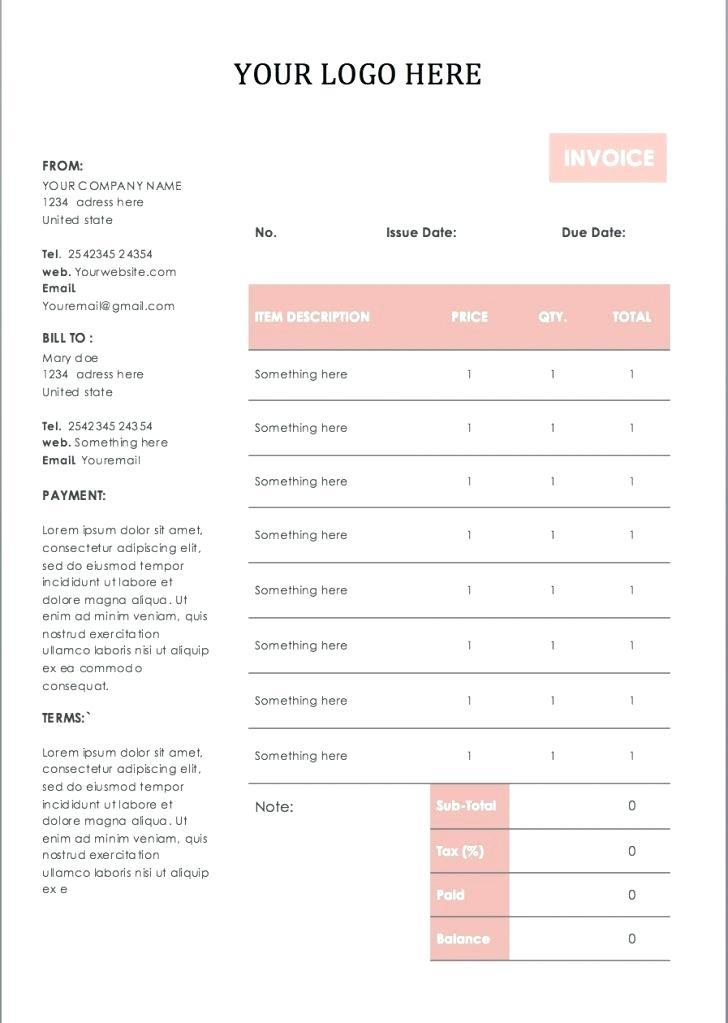 Editable Receipt Samples