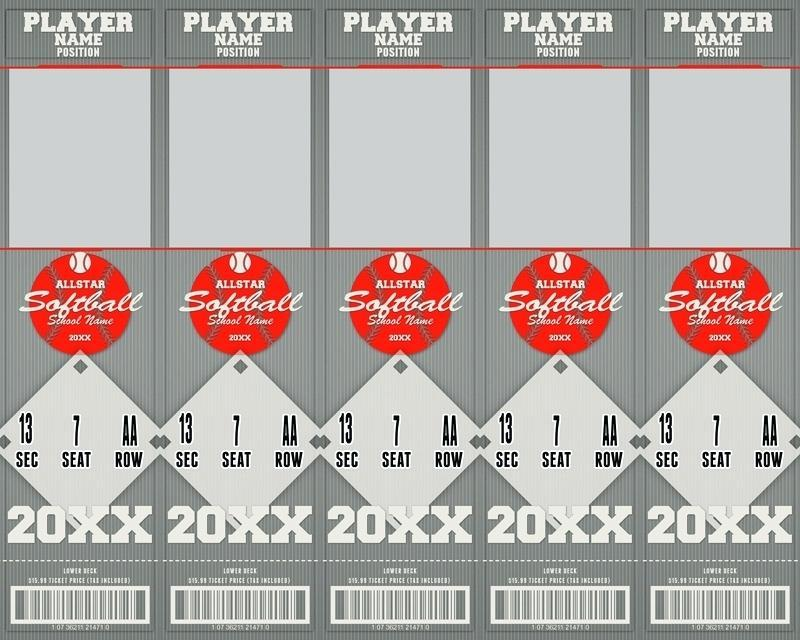 Editable Sports Ticket Template Free