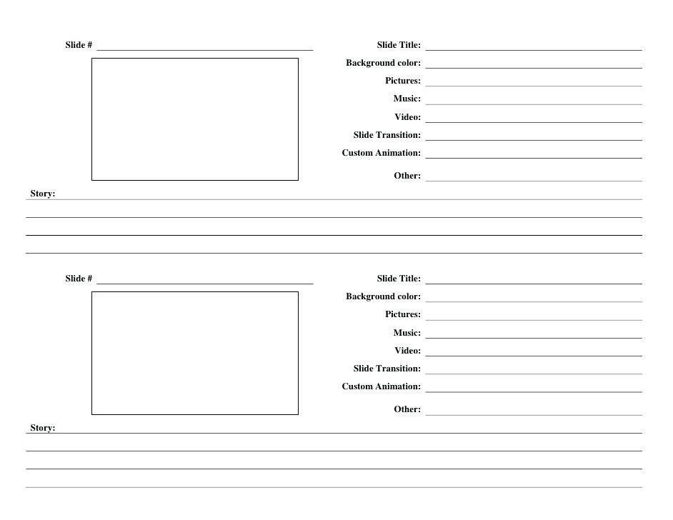 Elearning Storyboard Template Powerpoint