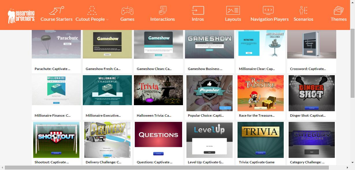 Elearning Templates Captivate