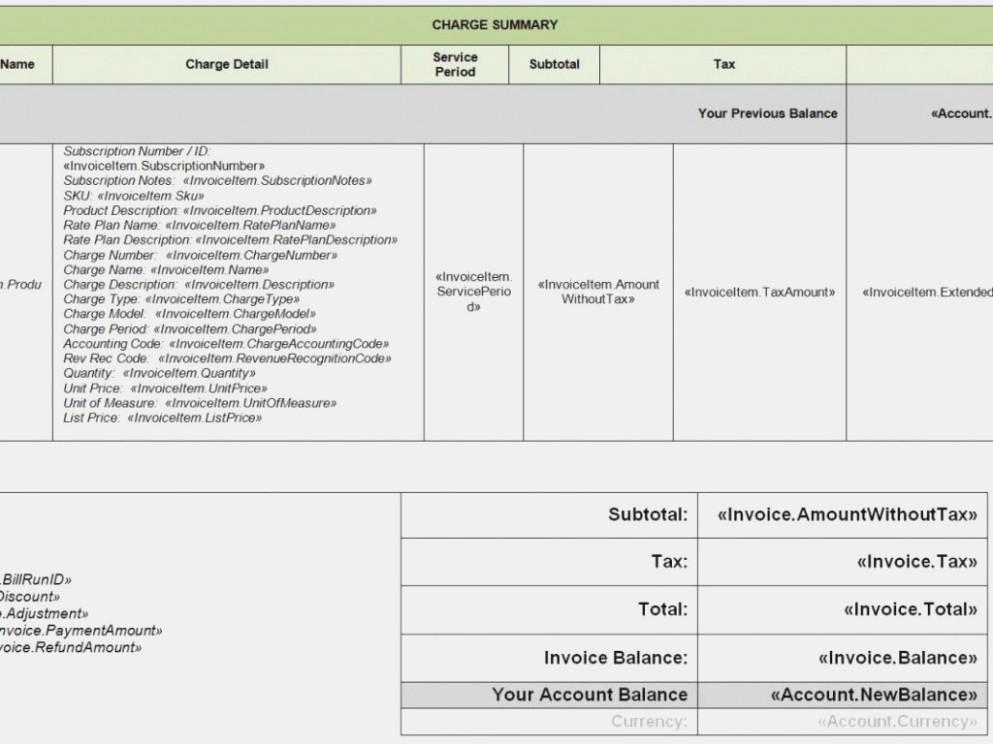 Electrical Invoice Template Word