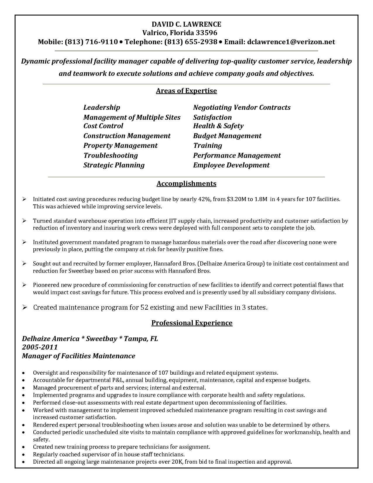 Electrical Maintenance Resume Template