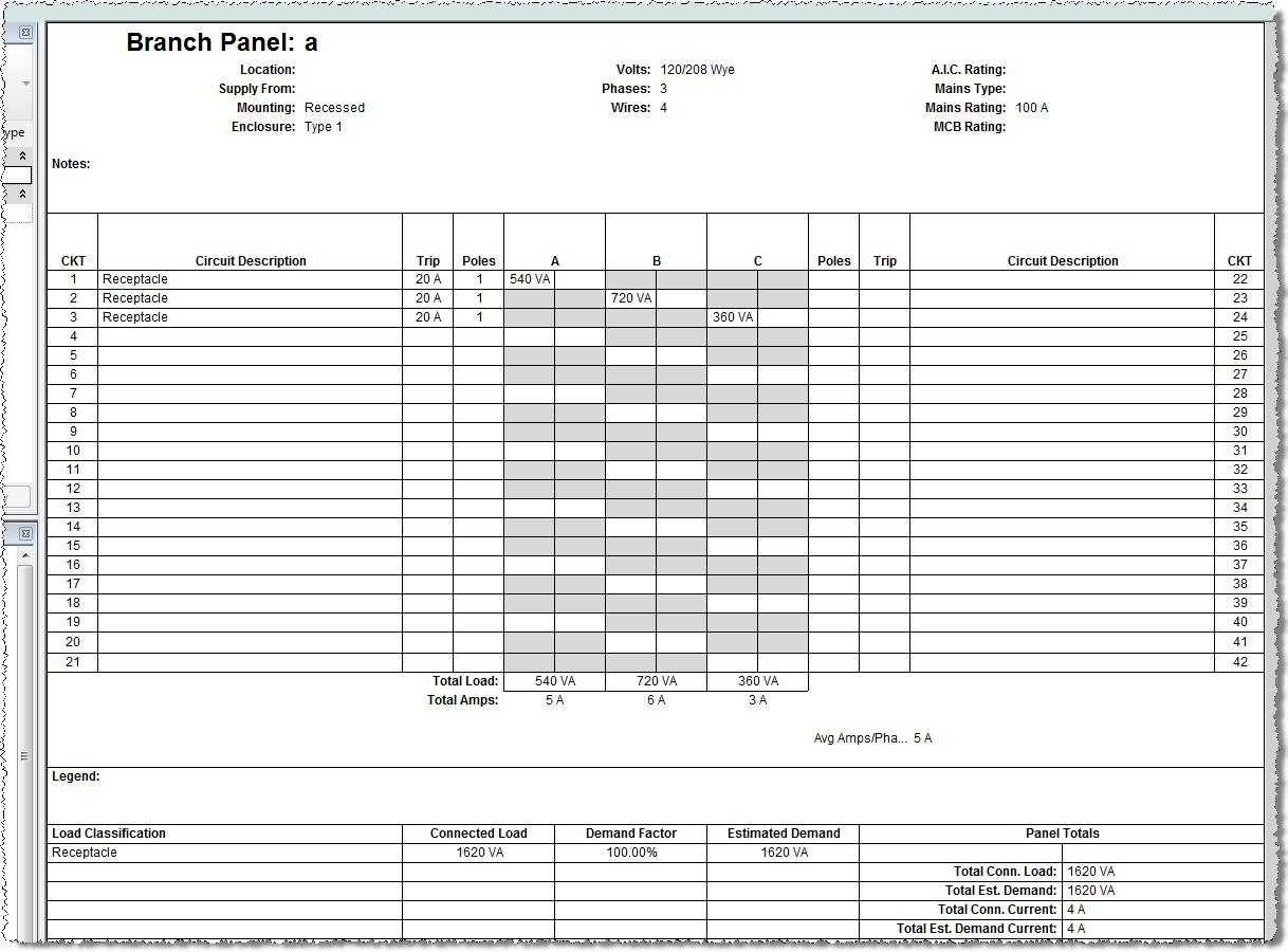 Electrical Panel Schedule Template Excel