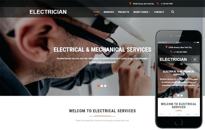 Electrician Website Template Uk