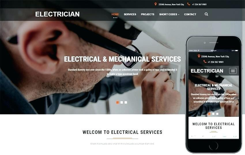 Electrician Website Templates Free Download
