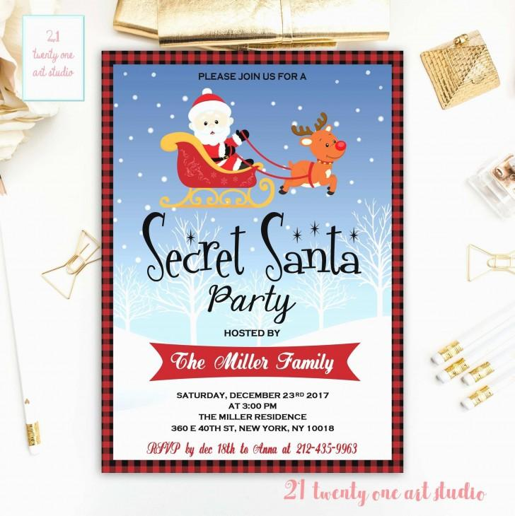 Electronic Christmas Invitation Templates